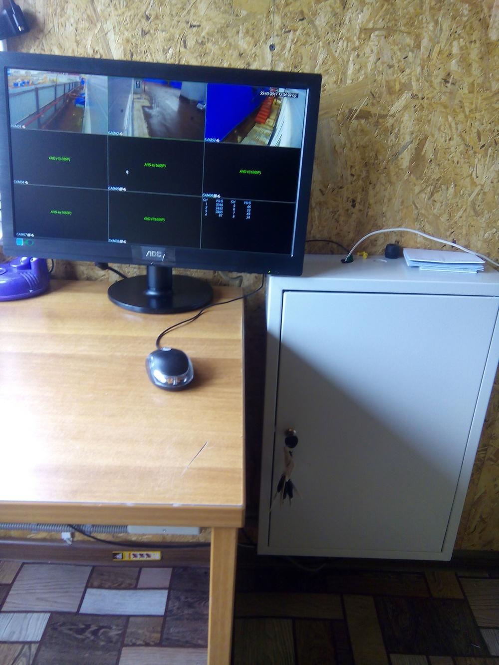 Видеонаблюдение на 4 камеры с монитором