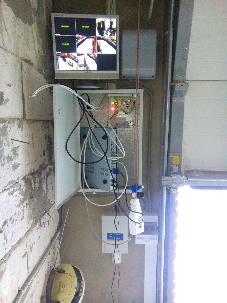Установка видеонаблюдения в коттедже 2