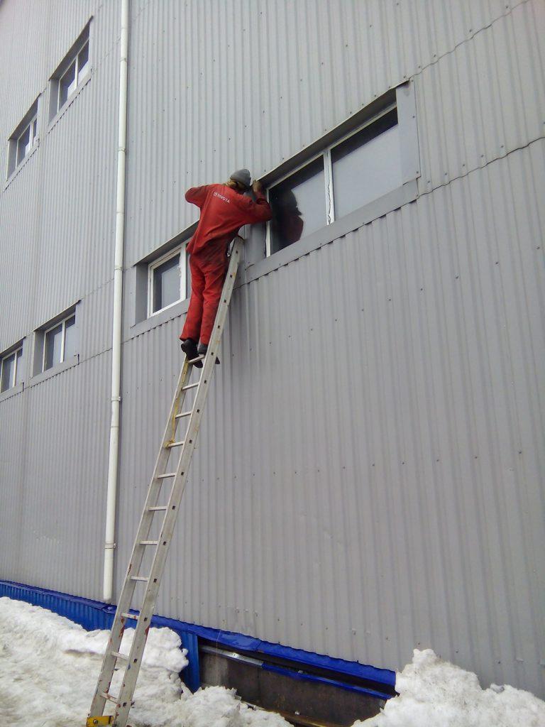 Установка видеонаблюдения на складе11