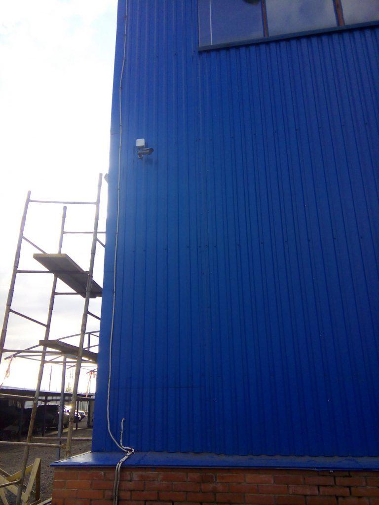 Установка видеонаблюдения на складе14