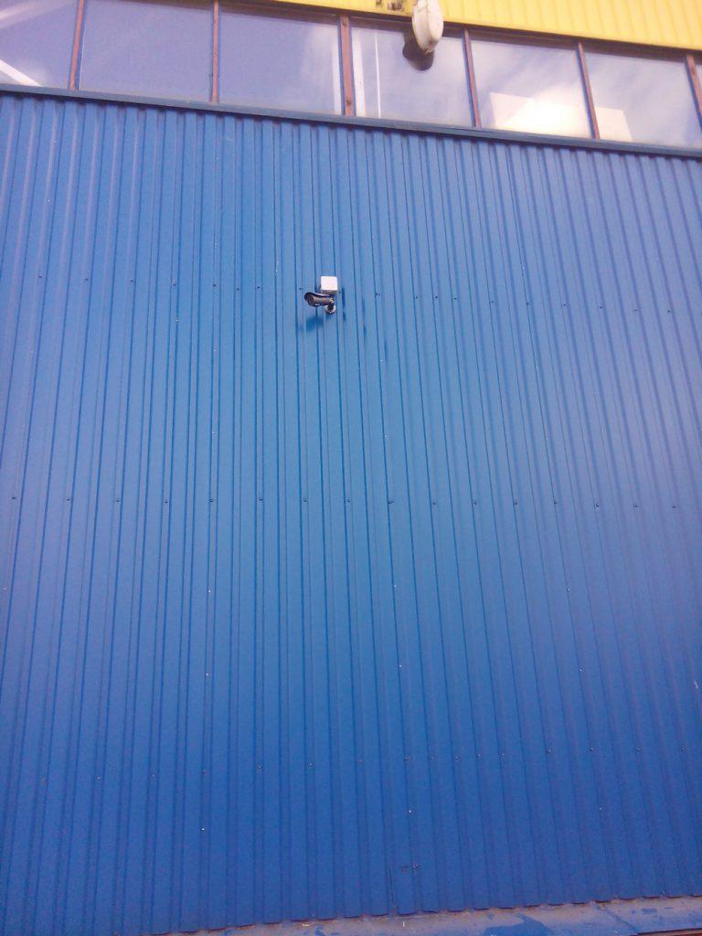 Установка видеонаблюдения на складе16