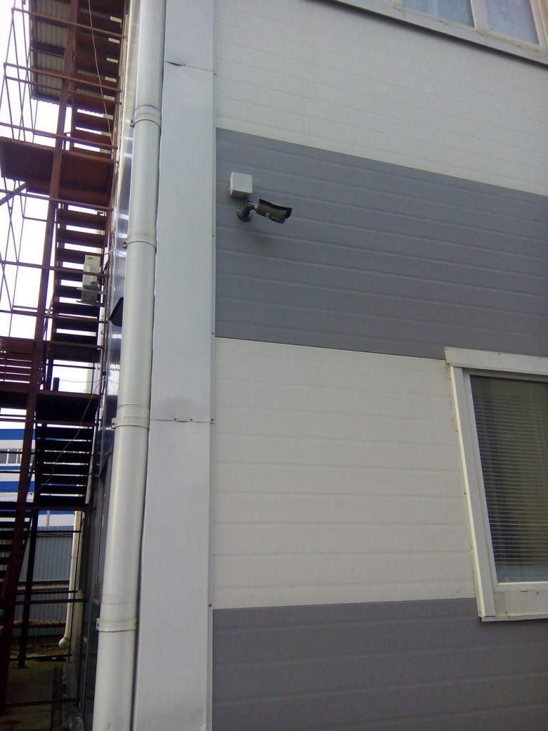 Установка видеонаблюдения на складе18