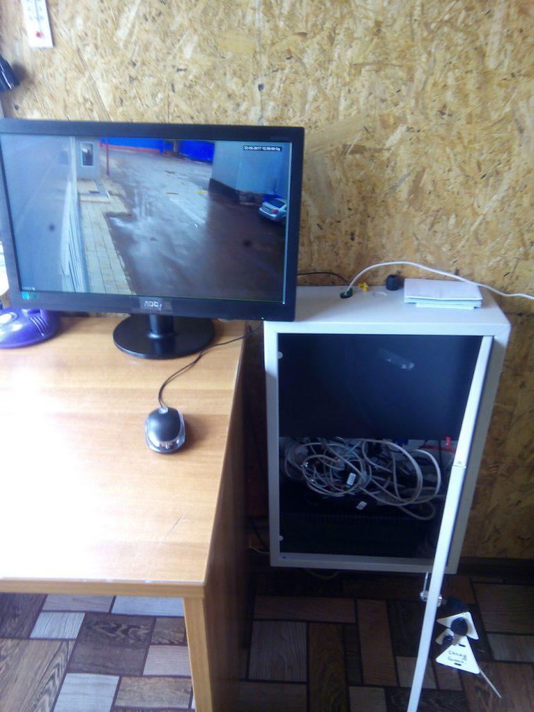 Установка видеонаблюдения на складе20