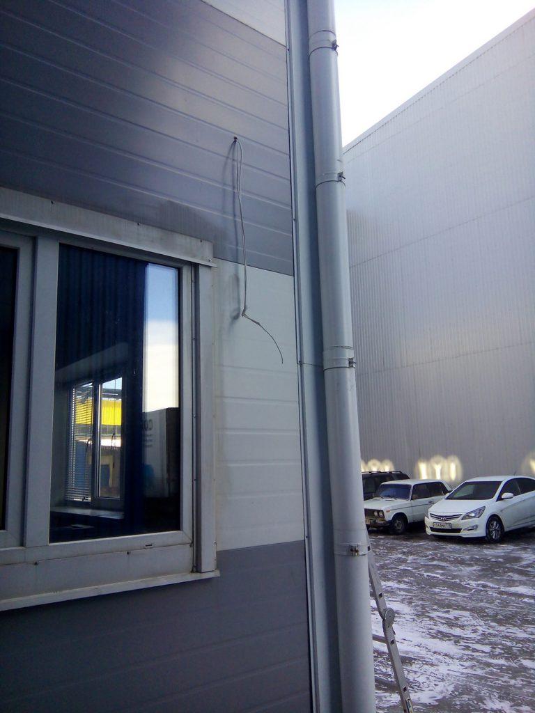 Установка видеонаблюдения на складе5