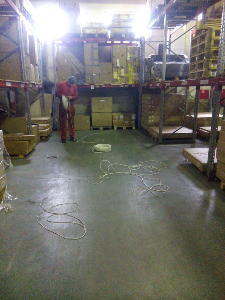 Установка видеонаблюдения на складе7