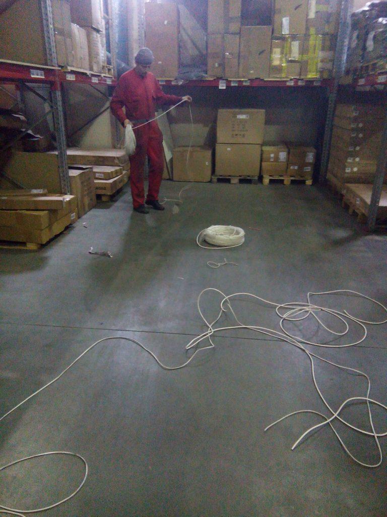 Установка видеонаблюдения на складе8